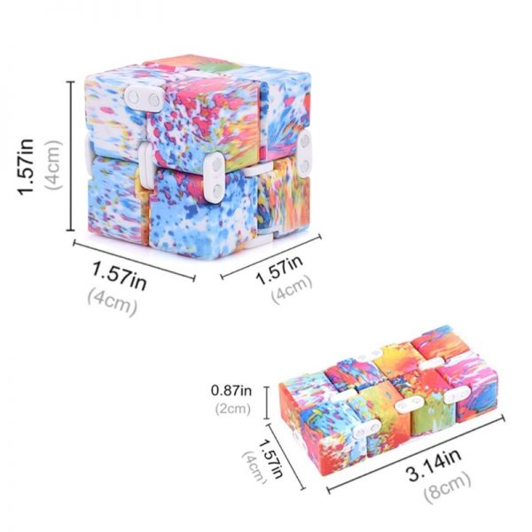 1PC Cube Puzzle Toys ABS Plastic Stress Reliever Brain Teasers Infinity Magic Cube Reducing Pressure Toys 2 - Infinity Cube Fidget