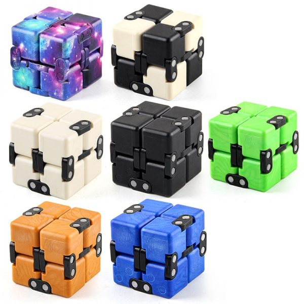 Children Adult Decompression Toy Infinity Magic Cube Square Puzzle Toys Relieve Stress Funny Hand Game Four 1 - Infinity Cube Fidget