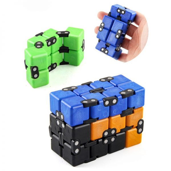 Children Adult Decompression Toy Infinity Magic Cube Square Puzzle Toys Relieve Stress Funny Hand Game Four 3 - Infinity Cube Fidget