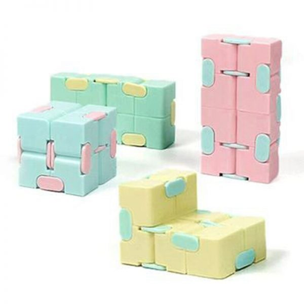 Decompression Blue Pink Infinity Cube Anti anxiety infinite cubes Upgrade Frosted Puzzles Toys for adults Stress 2 - Infinity Cube Fidget