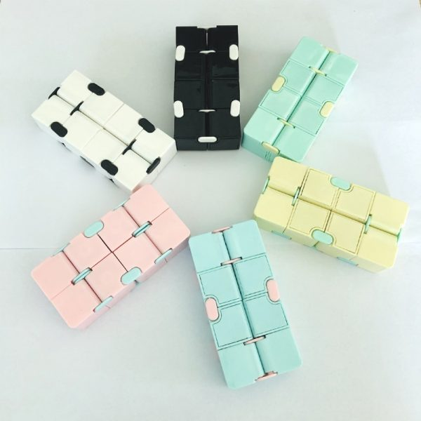 Decompression Blue Pink Infinity Cube Anti anxiety infinite cubes Upgrade Frosted Puzzles Toys for adults Stress 4 - Infinity Cube Fidget
