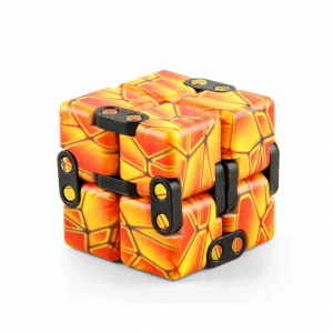 Earth-Orange-Infinity-Cube-Fidget-Toys-for-Stress-Relief