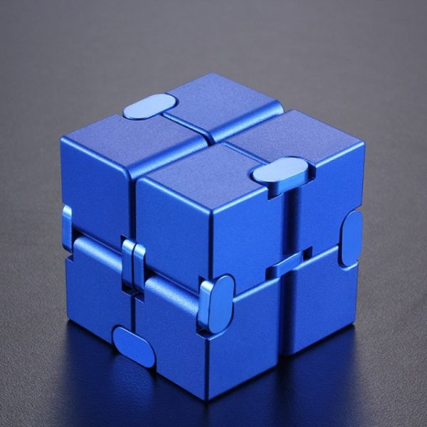 Mini Stress Relief Toy Premium Metal Infinity Cube Portable Decompresses Relax Toys Best Gift Toys for 12.jpg 640x640 12 - Infinity Cube Fidget