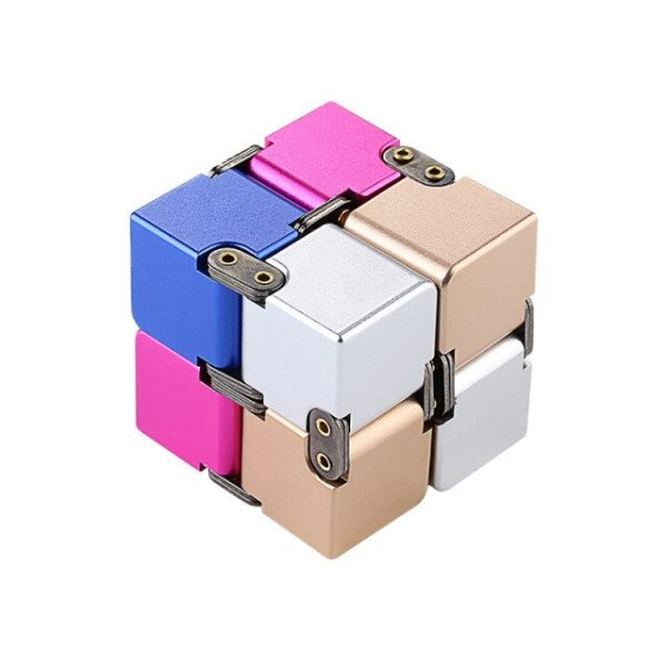 Mini Stress Relief Toy Premium Metal Infinity Cube Portable Decompresses Relax Toys Best Gift Toys for 3.jpg 640x640 3 - Infinity Cube Fidget