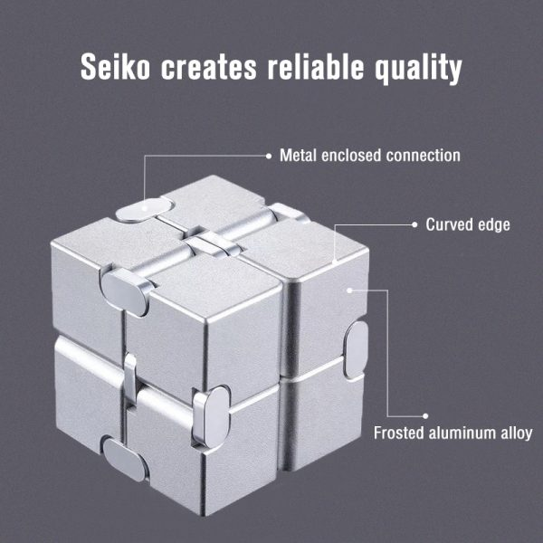 Mini Stress Relief Toy Premium Metal Infinity Cube Portable Decompresses Relax Toys Best Gift Toys for 4 - Infinity Cube Fidget