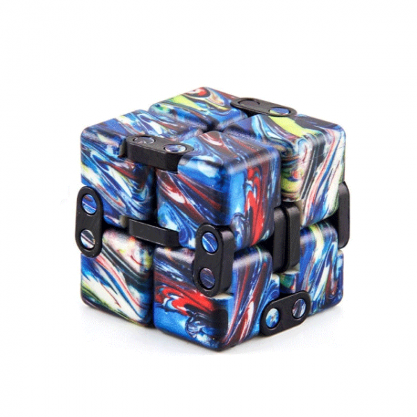Multi-Colored-Black-Smooth-Infinity-Cube-Fidget-Toys-for-Stress-Relief
