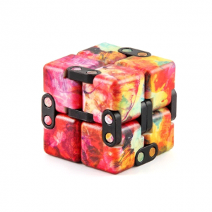 Multi-Colored-Orange-Smooth-Infinity-Cube-Fidget-Toys-for-Stress-Relief