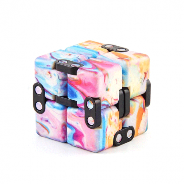 Multi-Colored-Pink-Smooth-Infinity-Cube-Fidget-Toys-for-Stress-Relief
