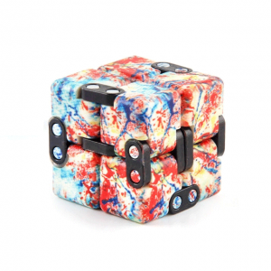 Multi-Colored-Red-Smooth-Infinity-Cube-Fidget-Toys-for-Stress-Relief
