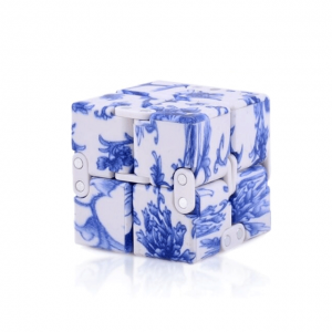 White-Blue-Infinity-Cube-Fidget-Toys-for-Stress-Relief