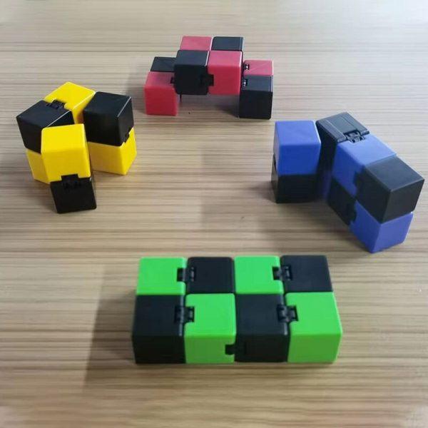 2021 Infinity Cube Toys Anti stress Endless Cube Hand Flip Kids Antistress Finger Game New Trending 1 - Infinity Cube Fidget