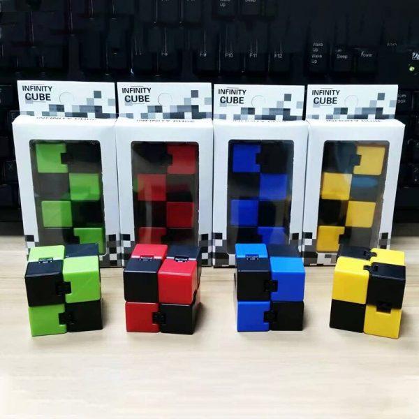 2021 Infinity Cube Toys Anti stress Endless Cube Hand Flip Kids Antistress Finger Game New Trending 2 - Infinity Cube Fidget
