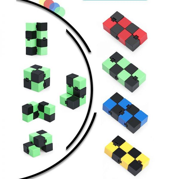 2021 Infinity Cube Toys Anti stress Endless Cube Hand Flip Kids Antistress Finger Game New Trending - Infinity Cube Fidget