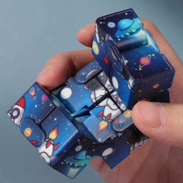 Children s Infinity Cube Toy Fingertips Decompress Magic Square Antistress Toys Funny Hand Game Maze Relaxing 1 - Infinity Cube Fidget