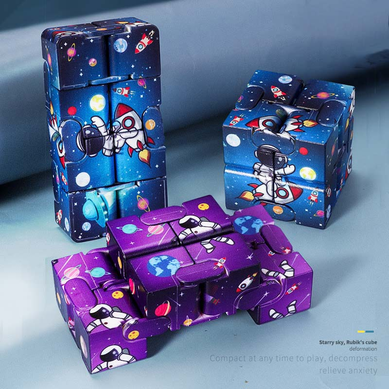 H0530261a5be3499f92d408fc9e71c096S - Infinity Cube Fidget